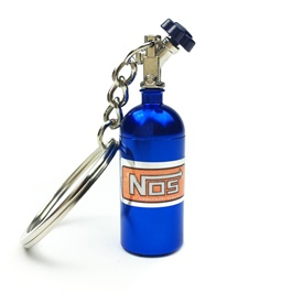 Nos Can Key Chain / Key Ring - Blue-SehgalMotors.Pk