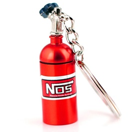 Nos Can Key Chain / Key Ring - Red-SehgalMotors.Pk