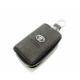 Toyota Zipper Leather Key Chain / Key Ring Pouch-SehgalMotors.Pk