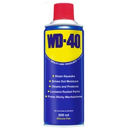 WD40 Anti-Rust Lubricant , Penetrating Oil and water-displacing spray - 200ml-SehgalMotors.Pk