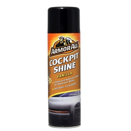 Armor All Cockpit Shine  Vanilla - 500ml | Dust Repellent | Scent Cleaner | Dashboard Cleaner | Car Cleaning Product | Protect Interior | Car Care | For Interior Shining-SehgalMotors.Pk