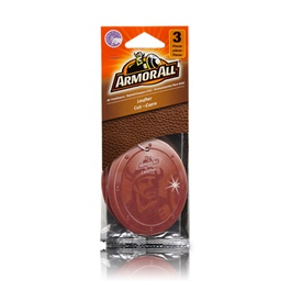 Armor All Air Freshener Card Leather - 3ct