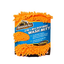 Armor All 2 in 1 Microfiber Noodle Wash Mitt | Microfiber Car Wash Sponge | Noodle Washmitt | Super Long Pile Microfiber
