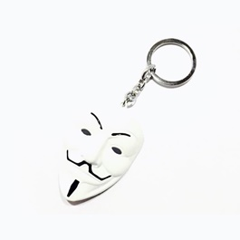 Vendetta Key Chain / Key Ring - White-SehgalMotors.Pk