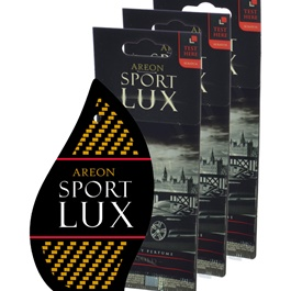 Areon Sport Lux Quality Perfume/Cologne Cardboard Car & Home Air Freshener - Gold-SehgalMotors.Pk