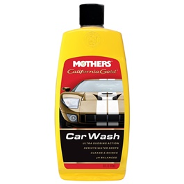 Mothers California Gold Wash & Wax - 4 OZ | Car Shampoo | Car Cleaning Agent | Car Care Product | 2 in 1 Product | Glossy Touch Shampoo | Mirror Like Shine