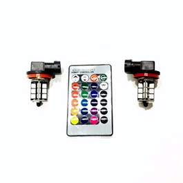 27 SMD RGB Light With Remote - Pair-SehgalMotors.Pk