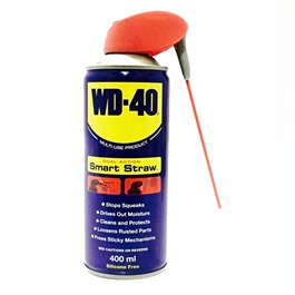 WD40 Smart Straw Anti-Rust Lubricant , Penetrating Oil and water-displacing spray-400ML-SehgalMotors.Pk