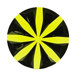 Black and Yellow Wheel Cups - 12 inches-SehgalMotors.Pk