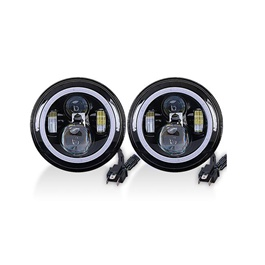 Jeep LED Projection Headlight with Round DRL - 7-inches