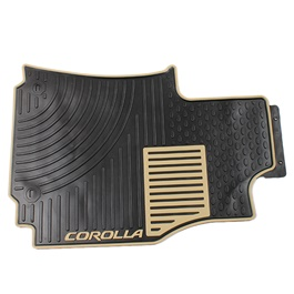 Toyota Corolla Custom Floor Mat Black and White - Model 2014-2017-SehgalMotors.Pk