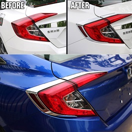 Honda Civic Back lights Chrome - Model 2016-2019-SehgalMotors.Pk