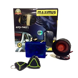 Maximus Car Alarm System Green Black Two Button