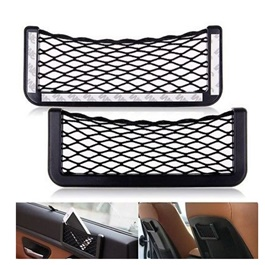 Car Net String Box Side Pocket Organizer Bags Baskets Mobile Phone Holder Large