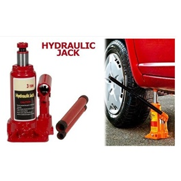Car Hydraulic Jack With Manual Handle Heavy Duty- 3 Ton-SehgalMotors.Pk