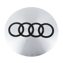 Audi Wheel Cap Logo Chrome - 4 pieces | Wheel Center Cap | Wheel Logo | Wheel Center Hub Caps | Wheel Dust Proof Covers Badge logo-SehgalMotors.Pk