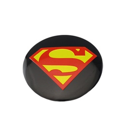 Superman Wheel Cap Logo - 4 Pieces-SehgalMotors.Pk