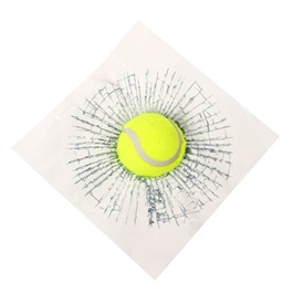 3D Tennis Ball Hit Window Car Sticker | Funny 3D Tennis Ball Basketball Football Hit Window Crack Car Sticker Decoration Car Exterior Accessories-SehgalMotors.Pk