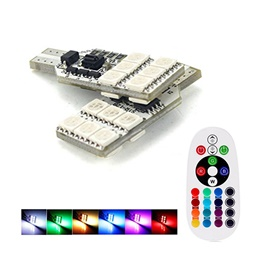 RGB Multi Color SMD Parking Light Flash Strobe | Led Light Bulb For Parking | SMD Car Exterior Parking Lamps Parking Lights Car Accessories