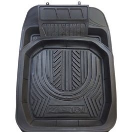 3D Rubber Tray Mat - Black-SehgalMotors.Pk