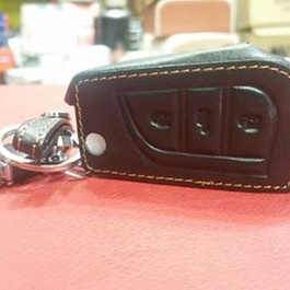 Toyota Corolla Key Cover Leather 3 Button Jack Knife - Model 2014 - 2017-SehgalMotors.Pk