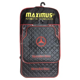 Mercedes Floor Mat Black and Red Color-SehgalMotors.Pk