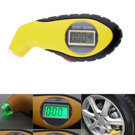 Digital Tire Valve Gauge - Yellow-SehgalMotors.Pk