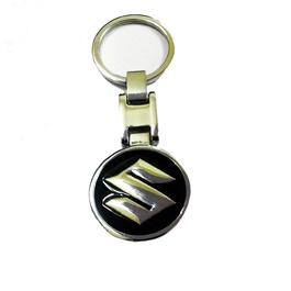 Suzuki Black Metal Key Chain / Key Ring-SehgalMotors.Pk