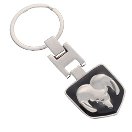 Dodge Black Metal Key Chain / Key Ring-SehgalMotors.Pk