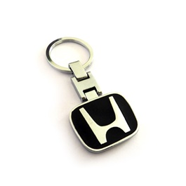 Honda Black Metal Key Chain / Key Ring-SehgalMotors.Pk