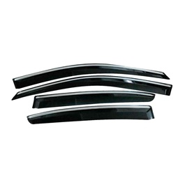 Window Visors Air press 4 pcs with 3M Adhesive & Clips-SehgalMotors.Pk
