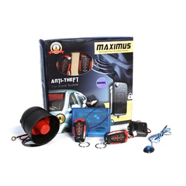 Maximus Car Alarm System - Ferrari Style 4 Button-SehgalMotors.Pk
