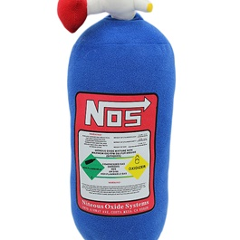 NOS Nitrous Oxide Bottle Pillow Car Decor Backrest Cushion Creative Plush Pillow Large-SehgalMotors.Pk