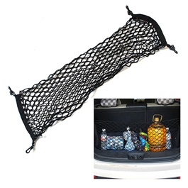 Cargo Net For Trunk, Roof Rack And Hood Cargo Net Stretchable | Universal Adjustable Elastic Truck Net With Hooks | Storage Mesh Organizer Bungee For Car-SehgalMotors.Pk