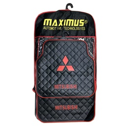Mitsubishi Floor Mat Black and Red Color-SehgalMotors.Pk