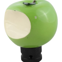Apple Gear Shift Knob For Auto  Green Color-SehgalMotors.Pk