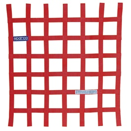 Sparco Safety Car Window Net Red