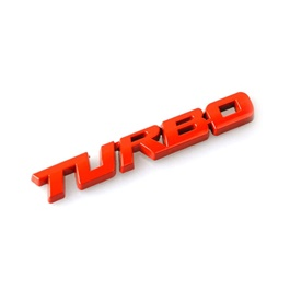 Turbo Metal Logo Red-SehgalMotors.Pk