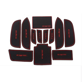 Honda Civic PVC Interior Mats Red - Model 2012-2016