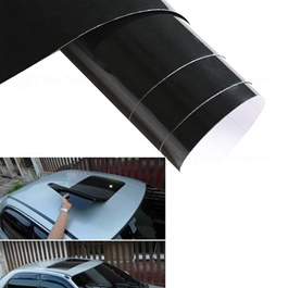 Glossy Black Car Sunroof Sticker | PVC Sunroof Sticker | Car Wrap Sticker For Roof-SehgalMotors.Pk