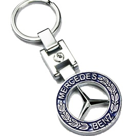 Mercedes Blue Metal Key Chain / Key Ring-SehgalMotors.Pk