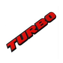 Turbo Logo Metal Monogram-SehgalMotors.Pk
