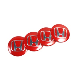 Honda Wheelcap Logos - Red-SehgalMotors.Pk