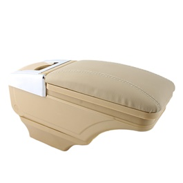 Sliding Leather Plastic Arm Rest Universal Beige-SehgalMotors.Pk