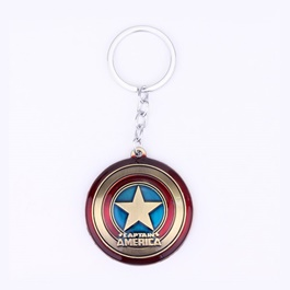 Captain America Metal Key Chain / Key Ring-SehgalMotors.Pk