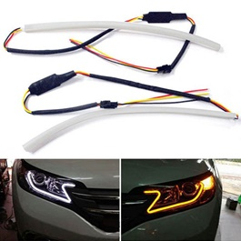 Maximus Flexible Headlight / Head Lamp Dual Color DRL with 100 SMD-SehgalMotors.Pk