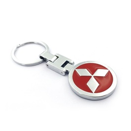 Mitsubishi Metal Key Chain / Key Ring Red-SehgalMotors.Pk