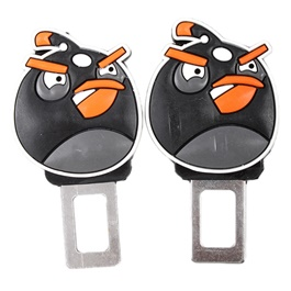 Angry Bird Seat Belt Clips Black | Safety Belt Buckles Real Trucks Car Seat Safety Belt Alarm Canceler Stopper | Car Safety Belt Clip Car Seat Belt Buckle-SehgalMotors.Pk