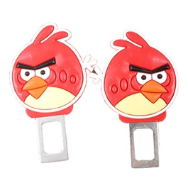 Angry Bird Seat Belt Clips Red-SehgalMotors.Pk