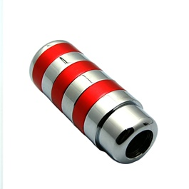 Red Chrome Gear Shift Knob For Auto -SehgalMotors.Pk
